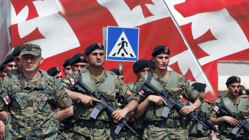 Репетиция военного парада в Грузии