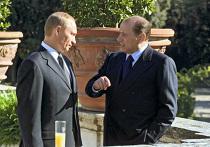 В.Путин и С.Берлускони