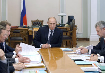 Премьер-министр РФ В.Путин провел совещание в Ново-Огарево
