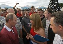 """В. Путин посетил Всероссийский форум """"Селигер-2009"""""""