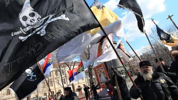 Митинг против независимости Косово