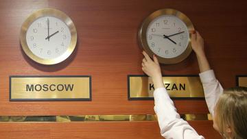Российское правительство изучает вопрос о сокращении числа часовых поясов.