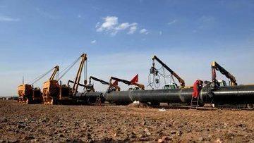 Строительство газопровода Туркменистан-Китай