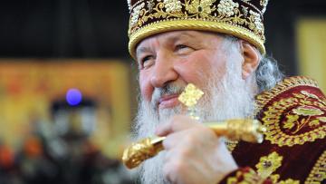 Патриарх Кирилл совершил божественную литургию в храме при МГУ