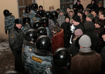 """Несанкционированная акция """"несогласных"""" в Санкт-Петербурге"""