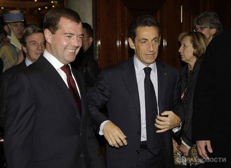 Д.Медведев и Н.Саркози