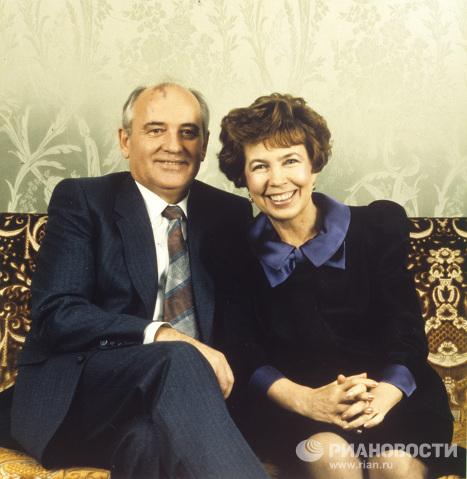 М.С. Горбачев с супругой