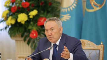 Н. Назарбаев на встрече с главами делегаций стран СНГ