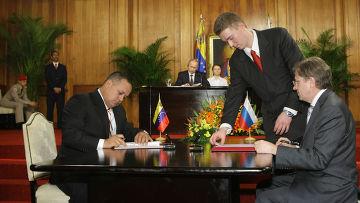 Подписание российско-венесуэльских соглашений