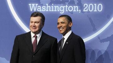 президент Барак Обама встретился с новым президентом Украины Виктором Януковичем