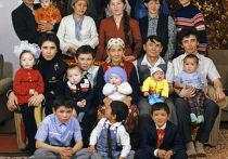 Многодетная казахская семья