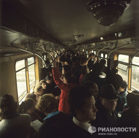 В вагоне московского метро