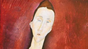 Амедео Модильяни. Портрет Луни Чеховской с веером