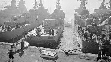 Корабли Краснознаменного Тихоокеанского флота у пирса