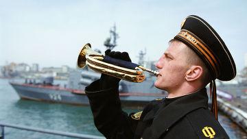 """На гвардейском ракетном крейсере """"Варяг"""""""
