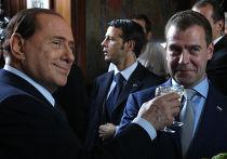 Прогулка Дмитрия Медведева и Сильвио Берлускони по Милану