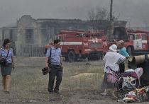Последствия пожара в селе Масловка