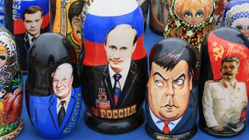 Матрешки с портретами президентов