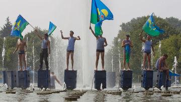 Празднование Дня ВДВ в Москве