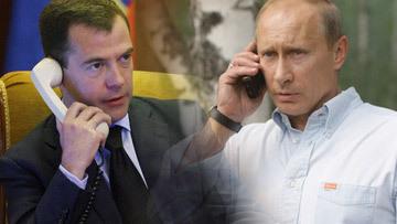 Телефонное совещание Медведева и Путина по последствиям пожаров в центральной части России