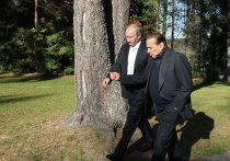 Встреча В.Путина и С.Берлускони в Ленинградской области