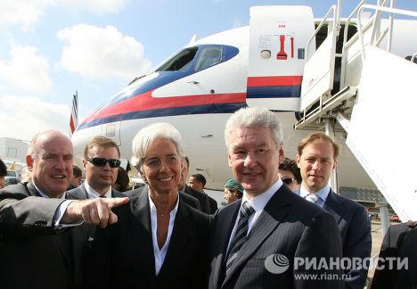 С.Собянин и К.Лагард посетили салон в Ле-Бурже
