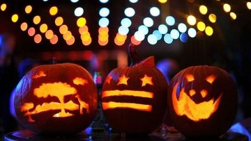 тыквенная «голова» как символ праздника Хэллоуин
