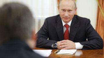 Встреча Владимира Путина с членами комиссии ФИФА