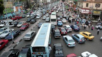 Пробки на дорогах египет каир