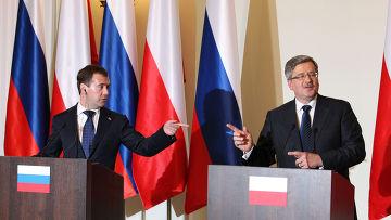 Д.Медведев прибыл с официальным визитом в Варшаву