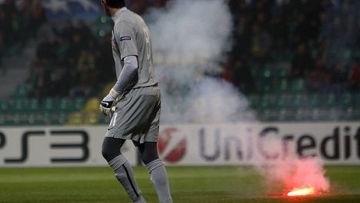 матч спартак жилина прерывался из-за поведения российских болельщиков