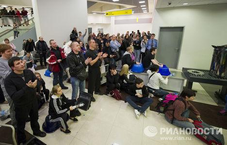 """Акция протеста пассажиров в аэропорту """"Шереметьево"""""""