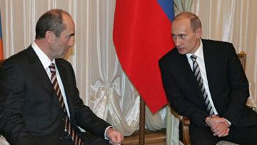 Роберт Кочарян и Владимир Путин