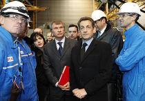Николя Саркози и Игорь Сечин на верфи STX Les Chantiers