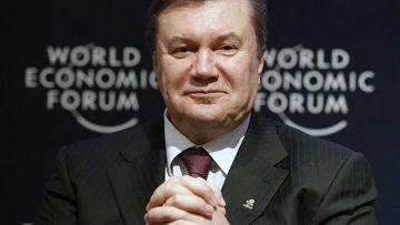 Виктор Янукович на международном форуме в давосе