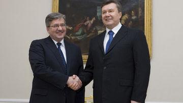 президент Янукович встретился с президентом Коморовским