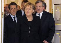 встреча Николя Саркози  в Варшаве с канцлером Германии Ангелой Меркель и президентом Польши Брониславом Коморовским