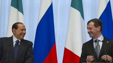 Приезд Медведева на открытие года Италия-Россия