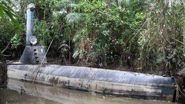 Самодельная подводная лодка наркомафии