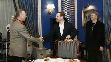 Встреча Д.Медведева с участниками группы Deep purple