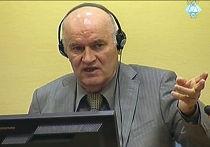 Ратко Младич в Гаагском трибунале по бывшей Югославии