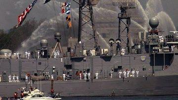 американский военный корабль отправляется на учения НАТО-Украина