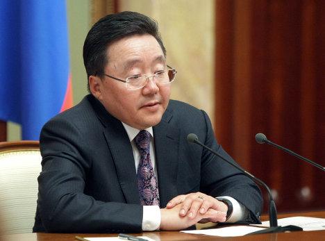 Президент Монголии Цахиагийн Элбэгдорж. Архив