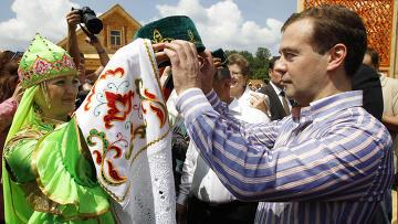 Визит президента РФ Д.Медведева в Казань. День второй