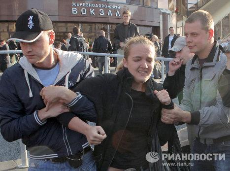 """Акция протеста движения """"Революция через социальные сети"""""""