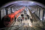 Аэроэкспресс в Москву на подземной станции в аэропорту Внуково