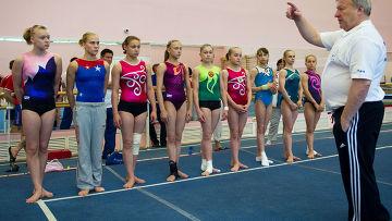 Спортивная гимнастика. Тренировка сборной России