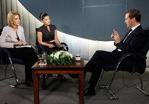 Д.Медведев дал интервью телеканалам и радиостанции