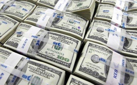 Доллары США в корейском банке