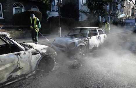 Устранение последствий беспорядков в Лондоне